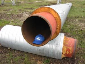 Утепленная газовая труба