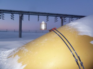ДМ-Д расположенный на газовой трубе