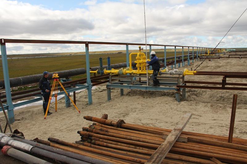 Нивелирование трубопровода